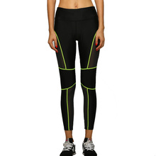 YOFOCOO Women Active Leggings Female Legging Workout Fitness Pants Bodybuilding Sexy Mesh Capri