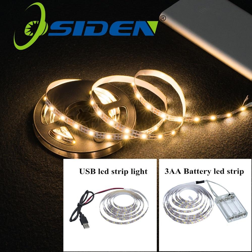 LED Strips SMD2835 Light 5V String Light Christmas Desk Decor Lamp Tape For TV Background Lighting 5V 50CM 1M 2M 3M 4M 5M