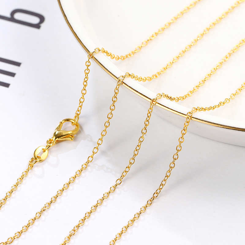 Top Quality Wholesale 24K Stamp Gold Color Necklace Golden Fashionable Jewelry Chain Necklace Accessories choker necklace