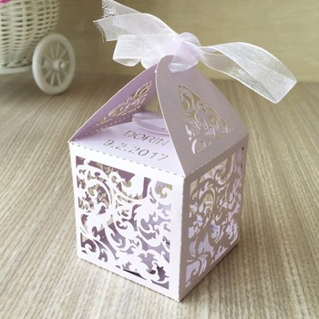 50pcs Candy Box Wedding Gift Bag paper Lovely Box Decorations for Wedding baby shower birthday Guests Favor Event Party Supplies