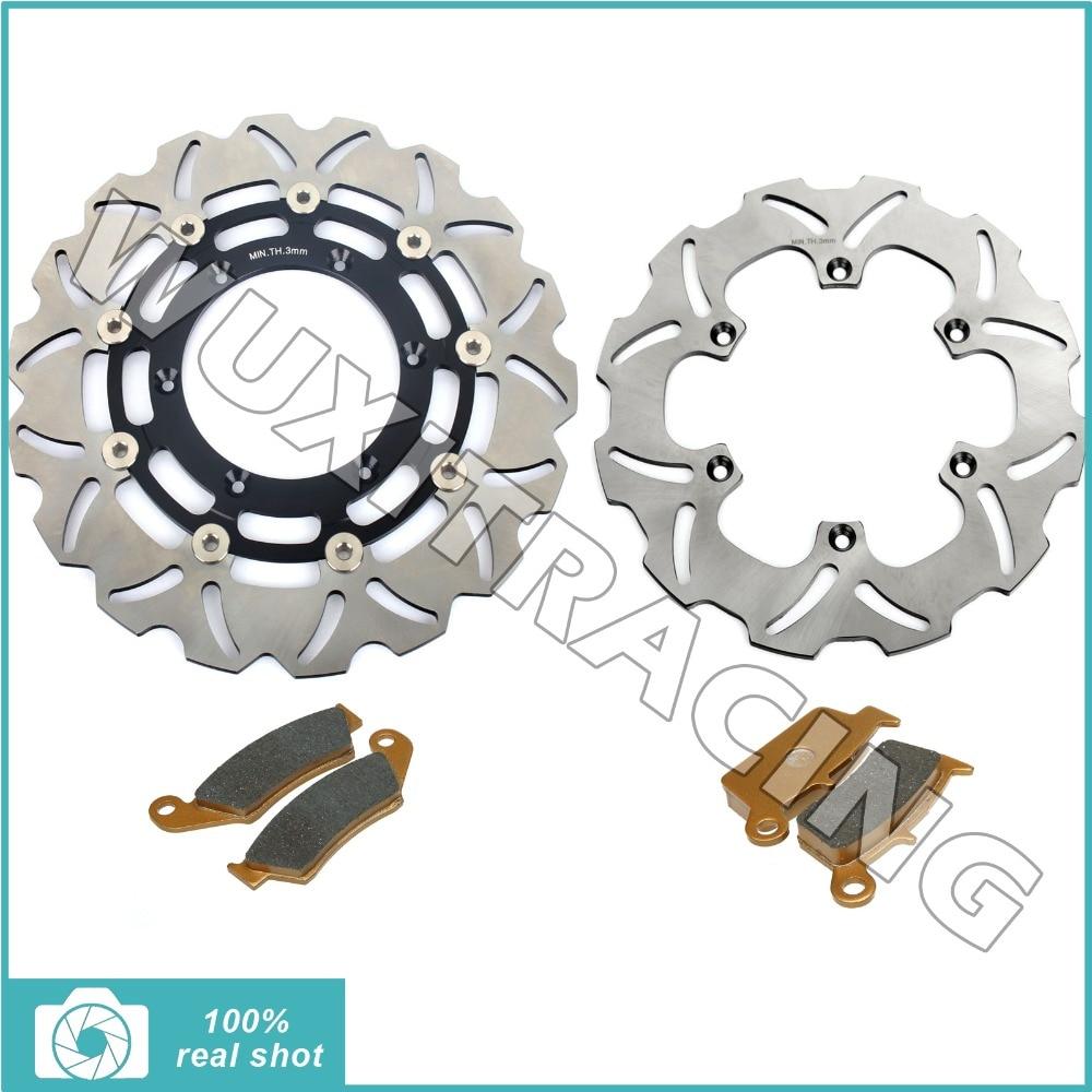 Front Brake Discs Disks Rotors Pads fit for Suzuki DRZ400SM DRZ SM 400 SuperMotard 05 06 07 08 09 10 K5 K6 K7 K8 K9 New hsp 85752 brake discs pads 1 8 scale