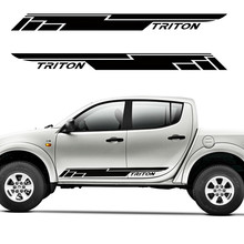 car stickers and decals  2pc cool racing door side car stickers for mitsubishi l200 triton 1000 cool stickers