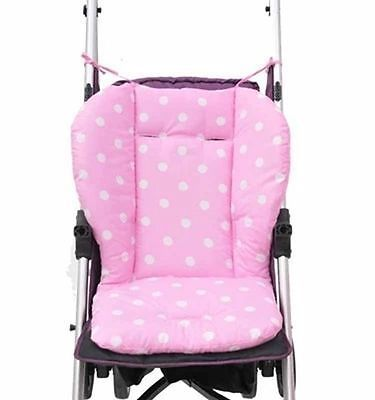 Thick Colorful Baby Infant Stroller Seat Pushchair Cushion Cotton Mat White Dot