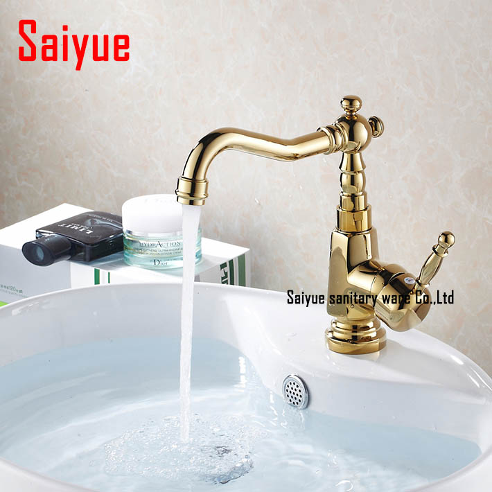 Bathroom Faucets Gold Finish popular gold bathroom faucets-buy cheap gold bathroom faucets lots