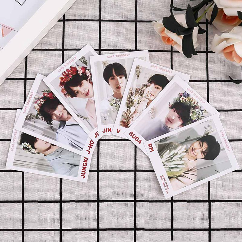 7pcs/set K-pop Bts Love Yourself Answer Photo Cards New Album Photocard Lomo Cards