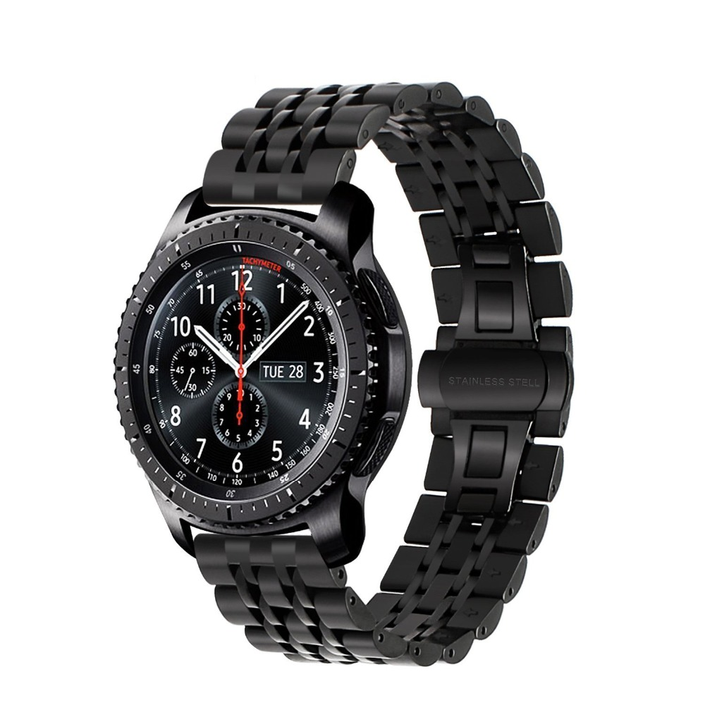 Watch strap for Samsung Gear S3 Frontier/Classic Galaxy watch 46mm band bracelet Stainless steel Smart watch correa Accessories