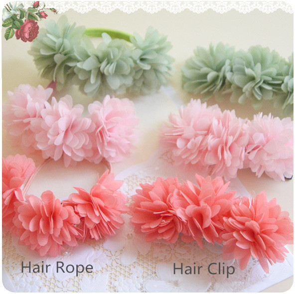2pcs/lot Children Hair Band Hairpin Fabric Flower headwear for kids Hair clip baby girls Floral Hair Accessories kk1336 8 pieces children hair clip headwear cartoon headband korea girl iron head band women child hairpin elastic accessories haar pin
