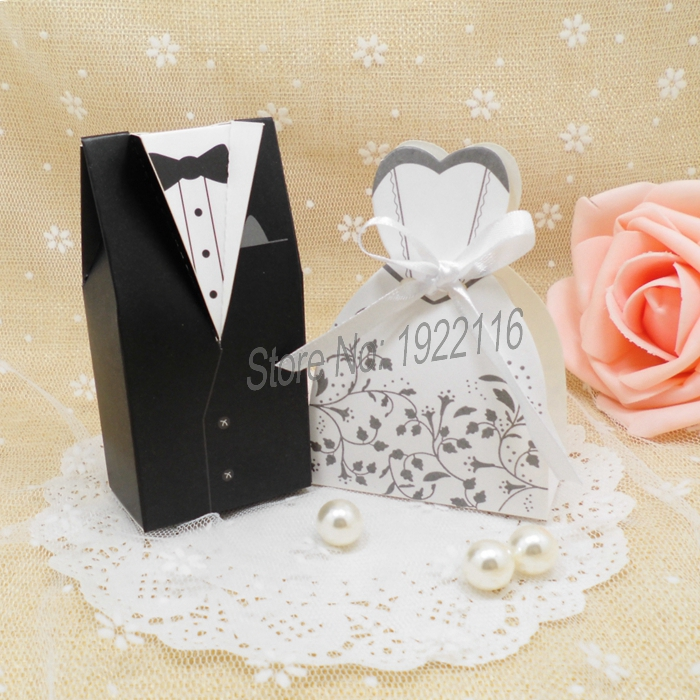 free shipping 50pcs bride and groom wedding candy box gift chocolate boxes wedding gifts for guests lembrancinha de casamento in candy boxes from home