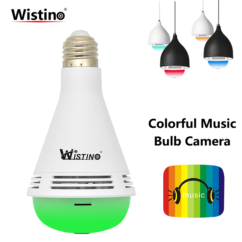 960P Wireless VR Panoramic Camera Bulb Wifi Security IP Camera FishEye 1.3MP CCTV Surveillance Baby Monitor Night Vision Light