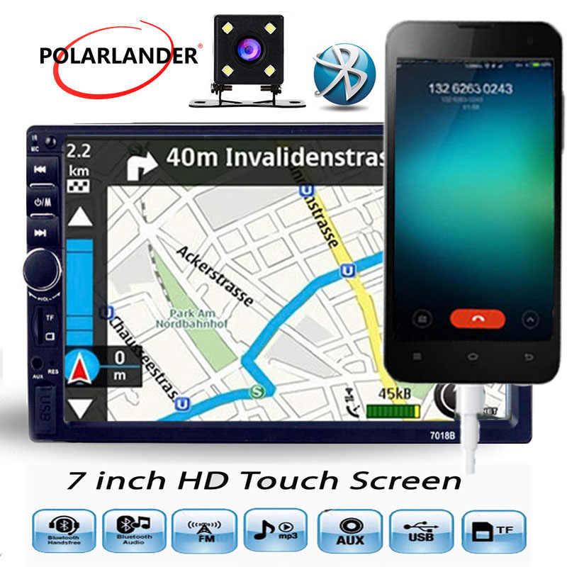 7 インチの Fm Bluetooth 2 Din 液晶タッチスクリーンミラーリンク Android 携帯用リアカメララジオ · オーディオ · ステレオカセットプレーヤー