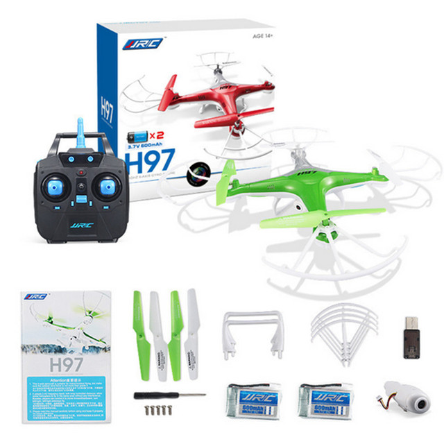 JJRC H97 Mini Drone with 30W Camera Quadcopter RC Helicopter 2.4G 6-Axis Gyro Aircraft Selfie Drone Headless Mode Kids RC Toy *