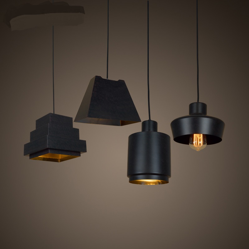 instrument industry wind  After the modern pendant lights cafe bar iron diffuse store creative black musical pendant lamp managing the store