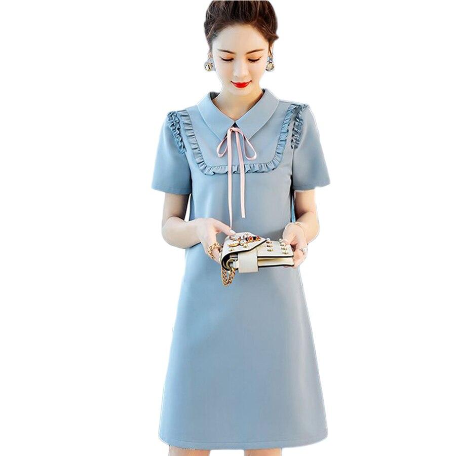 2018 volants robe femmes Kawaii robes d'été mignon plage courte Mini robes de soirée Mori fille Boho rose élégant VestidosC6E1