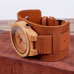 Image 3 - Reloj masculino BOBO BIRD Bamboo para hombre, reloj de madera, relojes de cuarzo, logotipo personalizado, se acepta Envío Directo