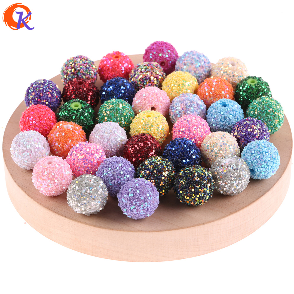 Image 4 - Cordial Design 12mm To 20mm Acrylic Bead Findings/Glitter On Round Beads/Hand Made/DIY/Chunky Beads/Earrings Jewelry Making-in Beads from Jewelry & Accessories