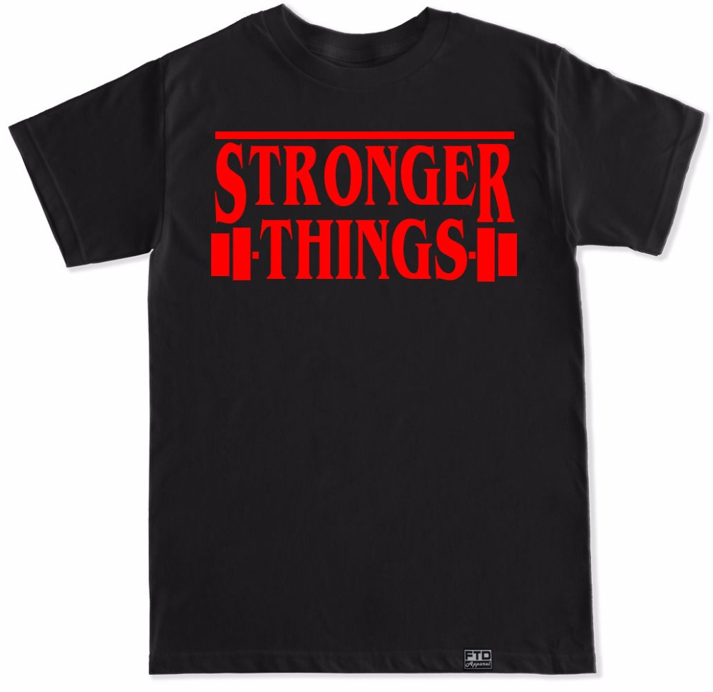 Stronger Things Gymer Workout Fitness Lift Show Netflix Horror Funny Humor T Shirt
