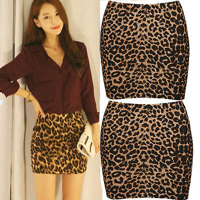 7ed51fb29a Summer Womens Sexy Animal Leopard Print Pencil Ladies Bodycon mini skirts-in  Skirts from Women's Clothing on Aliexpress.com | Alibaba Group