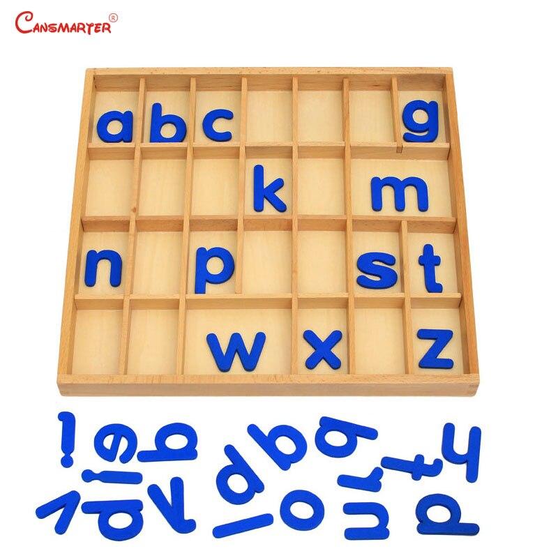 Amovible Alphabet boîte jeux mathématiques Montessori éducatif préscolaire maison bébé hêtre en bois jouets langue pratiques LA011-3