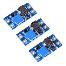 3Pcs Input 2V-24V Dc-Dc 5V/9V/12V/28V Boost Converter Adjustable Step Up Power Supply Pcc Board Moudle
