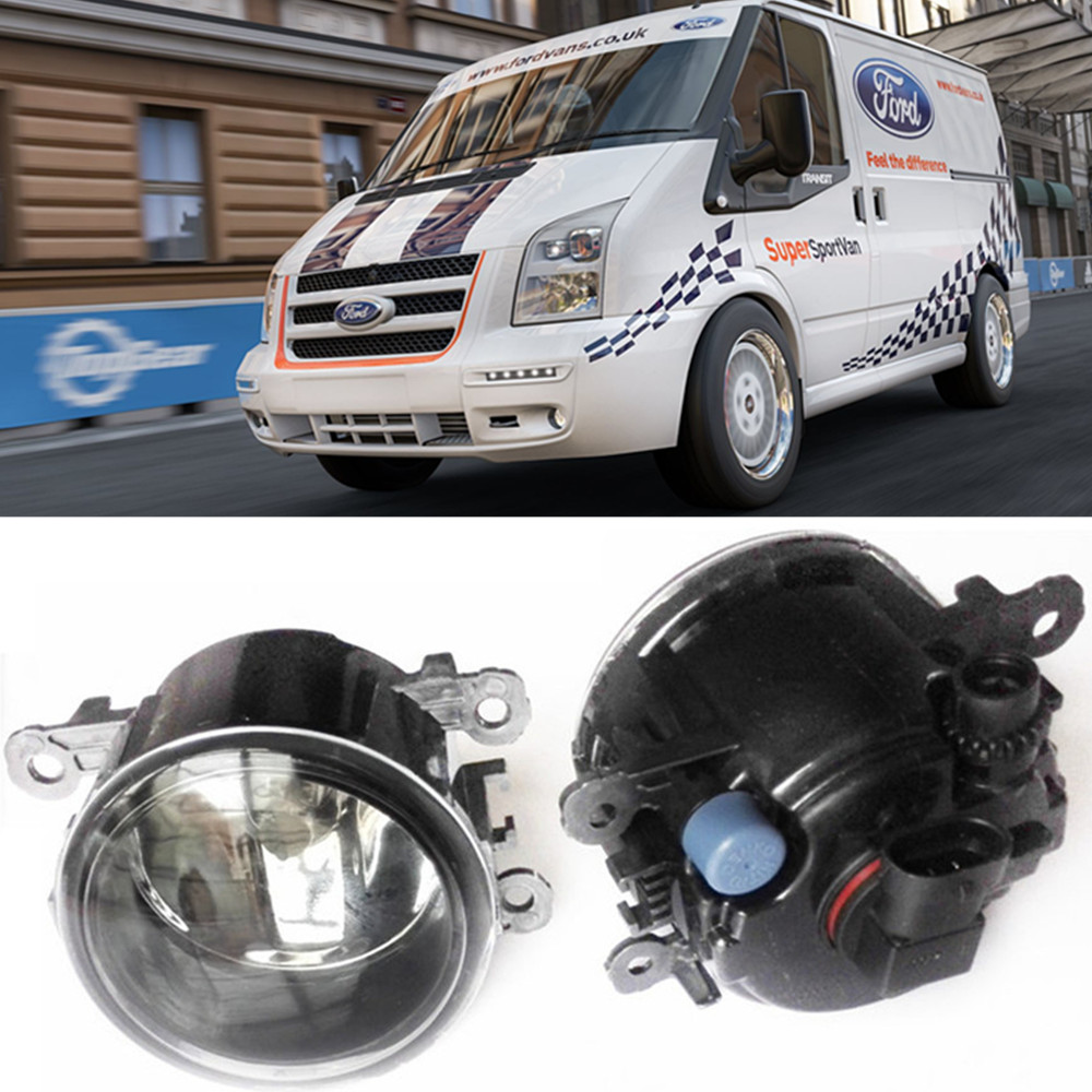 For FORD TRANSIT Box 2006-2015 Car styling Fog Lamps halogen Fog lights 1SET car electric window toggle switch front for ford transit mk6 2000 2006