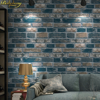 3d Wallpaper Stone Modern Dining Room Wallpaper Background Wall Wallpaper Pvc Roll Brick Wall Paper Papel