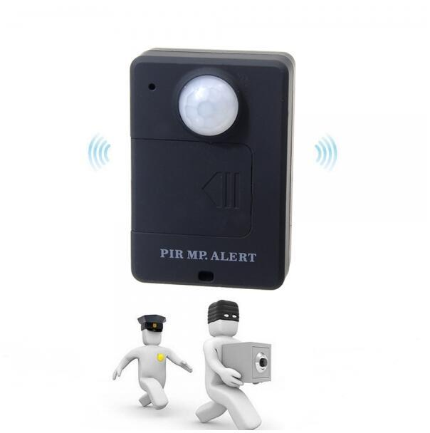 Portable Mini Wireless PIR Sensor Motion Detector GSM Alarm With Infrared  Inductive Probe Anti Theft