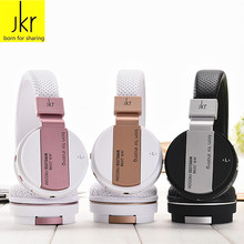 JKR 209B Wireless Bluetooth Folding Headphone Stereo Music Multi-function Headset with Mic, TF, FM Radio for Smart Phones laptop
