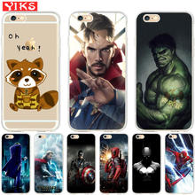 Luxury Marvel Avengers Heroes Case Coque for iPhone X 8 7 6 6S Plus 5 5S SE Case Cover for iPhone 6 6S 7 8 fundas Capinha Etui