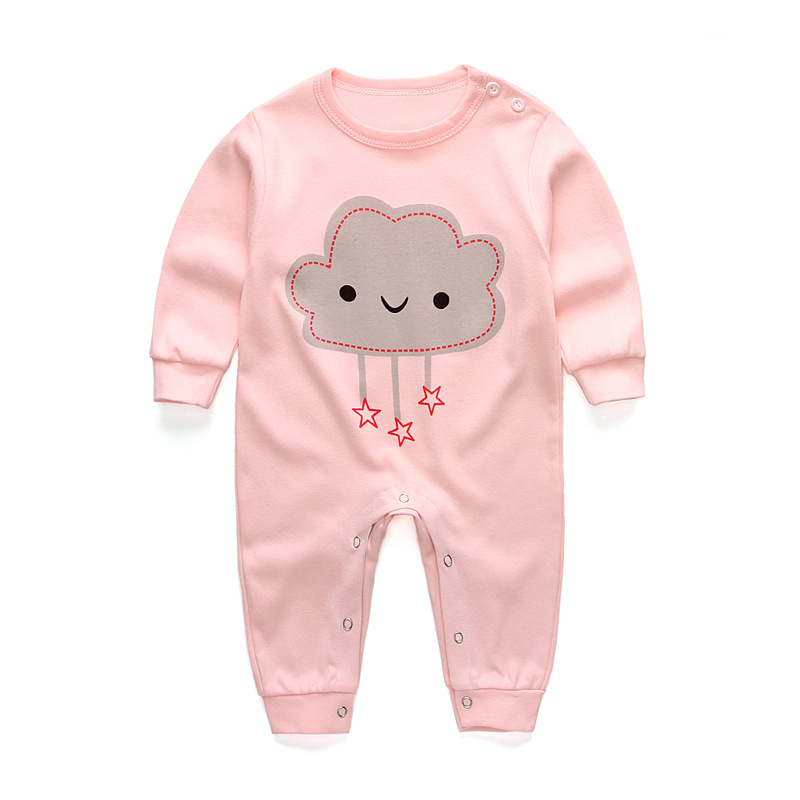 Baby girls clothes Spring cute Clouds Rompers Baby Clothes Cotton Kids Jumpsuits Boys Girls Rompers Outfits Baby Girls Clothes baby rompers spring autumn cartoon dog baby clothes cotton long sleeve jumpsuits boys girls rompers baby outfits girls clothes