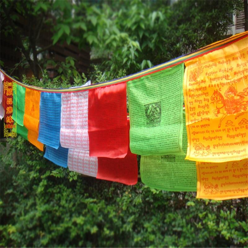 Tibetansk buddhistisk bönflagga Silkfärgtryck 3,5 meter 10 st / - Heminredning - Foto 3