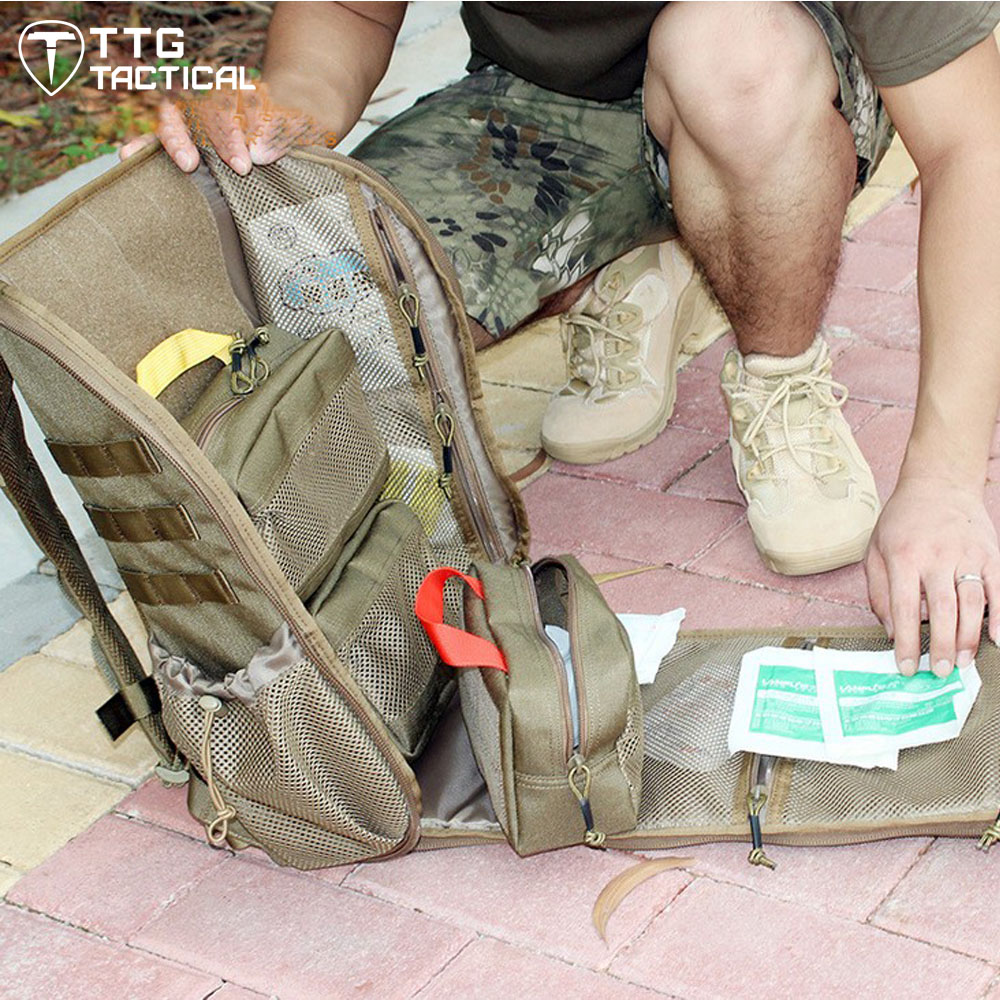 MOLLE Military First Aid Backpack Camouflage Travel Emergency Medical Daypack Tool Carry Survival Assault Backpack military emergency first aid kit bag survival tool set camouflage green