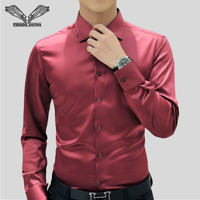 Solid Color Men Shirt 2017 New Arrival Business Formal Shirts Casual Brand Clothing Slim Long Sleeve Chemise Homme 5XL N1169