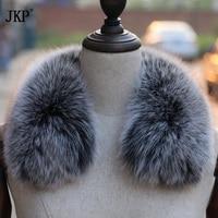 2018 Goods Fox Fur Collar Women 100% Natural Fur Fox Fur Collar Short Winter Short Scarves