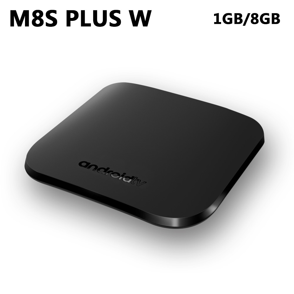 M8S Plus W TV BOX Android 7.1 Amlogic Quad core 1GB RAM 8GB ROM Smart Media Player 2.4GHz WiFi 4K HD OTA Mini PC Set Top Box