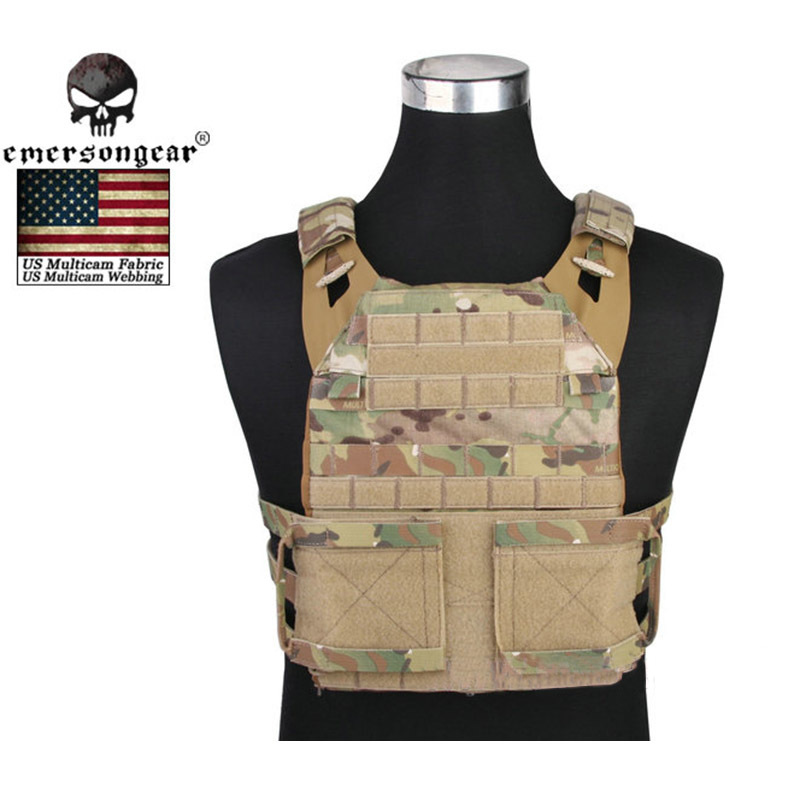 Emerson Airsoft Tactical Military Paintball Hunting Molle Assault Plate Carrier Vest CP Style Wargame Training Combat Uniform outdoor training mesh waistcoat safety clothing hunting equipment swat airsoft cs paintball tactical hunting combat assault vest