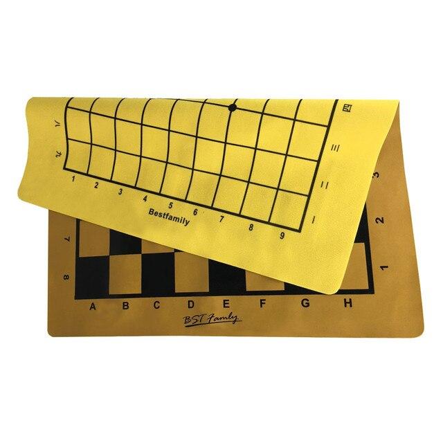 Ensemble de pièces en cuir PU, plateau d'échiquier pliable de 46x50cm ou Shogi, plateau d'échecs IB4 de 45x50mm 6