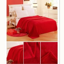 New Super Soft Plain Color Coral Fleece Blanket Adult Active Printing Dyeing Anti-static No Flocking Blankets For Beds