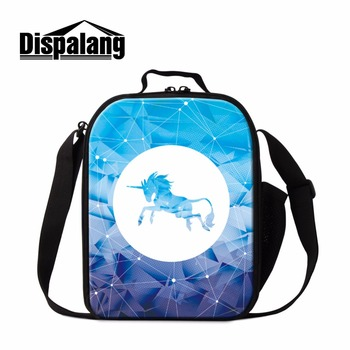 Dispalang Kids Insulation Lunch Boxes Cartoon Unicorn Horse Girls Picnic  Thermal Bag Food Safe Storage Container Bolso Termico