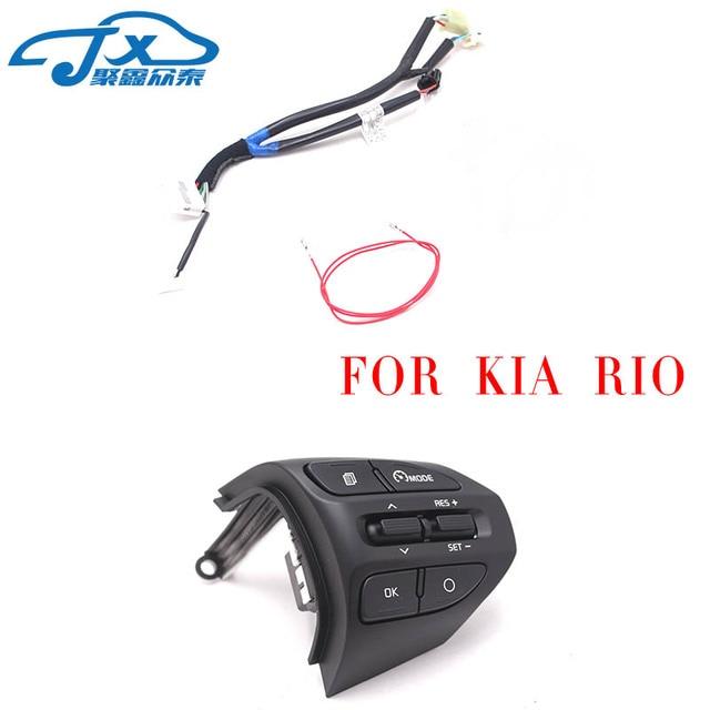 Dirección Botón de rueda para KIA K2 RIO 2017 de Río de 2018 X línea Bluetooth Teléfono de Control de crucero, volumen
