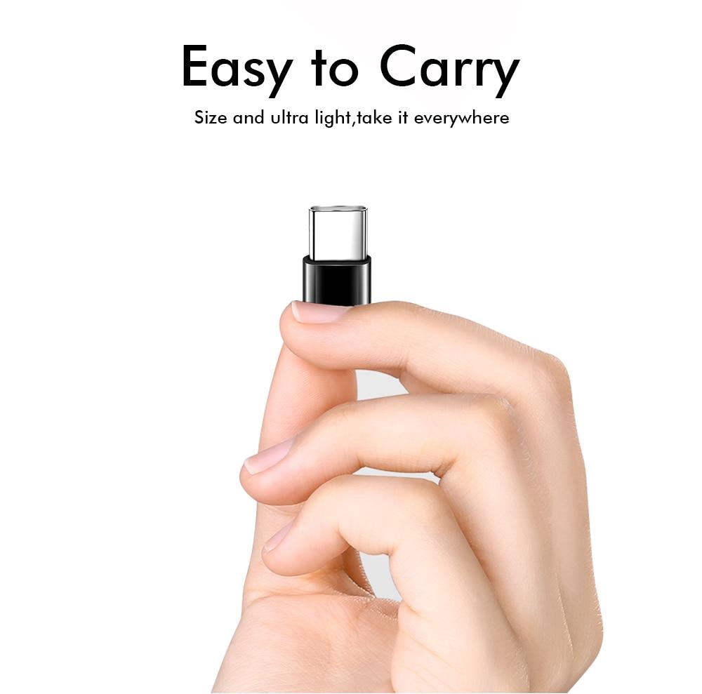 Ascromy Type C to Micro USB Adapter For Xiaomi Mi 8 A2 Mix 3 Mi8 SE Huawei P20 lite Honor 10 Pocophone F1 USB C Type-C Converter (2)