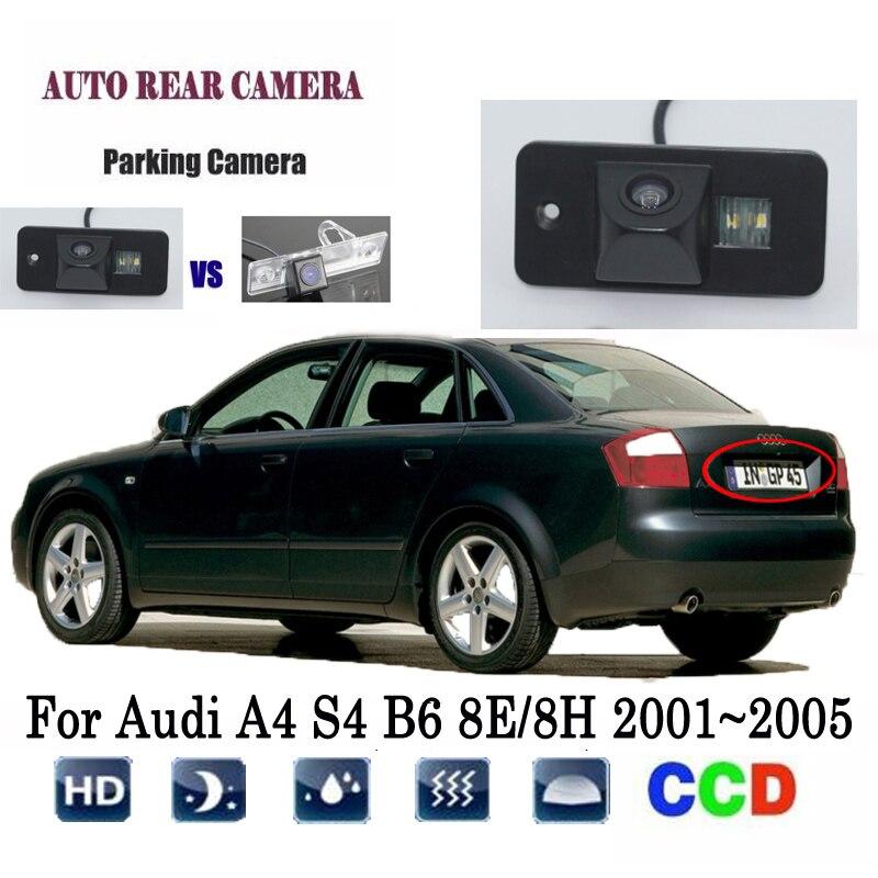Car Rearview Camera For Audi A4 S4 B6 8E/8H 2001~2005 Rear View Backup Camera/license plat Camera Original Factory hole Camera|Vehicle Camera| |  - title=