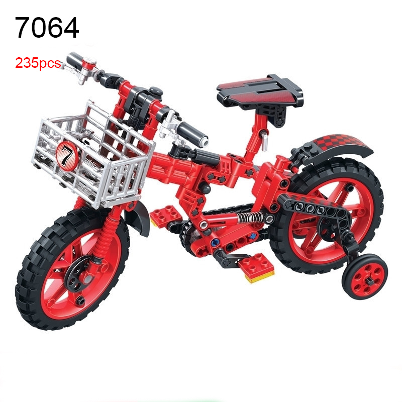 Winner 7064 235pcs Technic Motorbike Motorcycle Bicycle Moto Building Blocks DIY Educational Brick Toys for Children Kids Toys hot sale 1000g dynamic amazing diy educational toys no mess indoor magic play sand children toys mars space sand