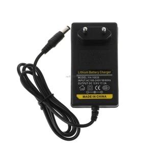 Image 4 - Chargeur de batterie 12.6V cc 2A Intelligent Lithium li on adaptateur dalimentation ue prise américaine transformateur