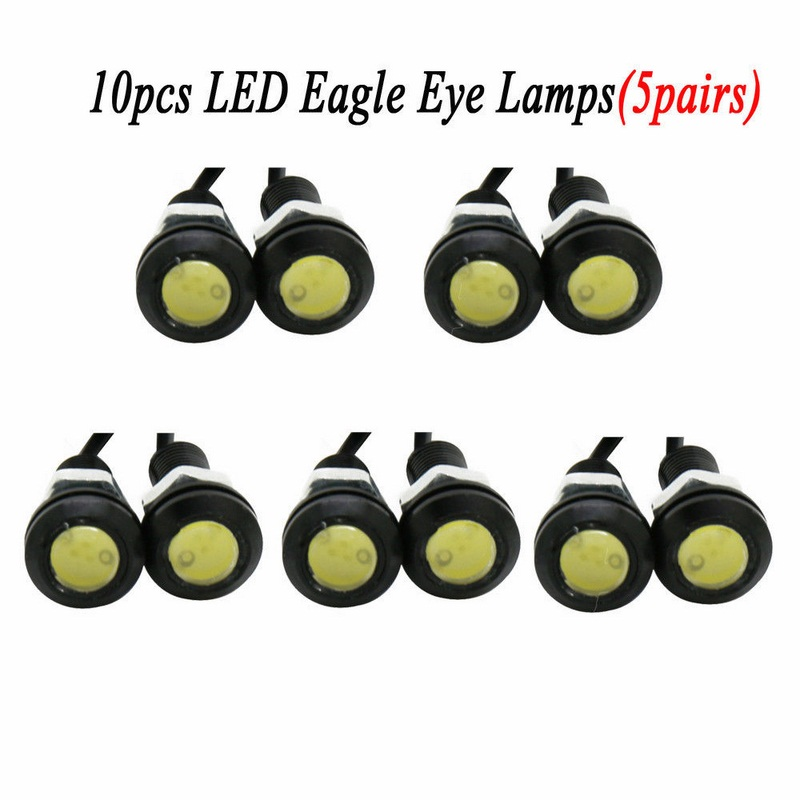 Image 4 - 10pcs/lot 23MM Car LED Eagle Eye Light Car Daytime Running Lights 12V Auto Backup Reversing Parking Signal Lamps Car Light-in Car Light Assembly from Automobiles & Motorcycles
