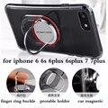 Magnética sostenedor del teléfono del coche para el iphone 6 6 s plus 7 plus teléfono cubierta iphone 6 s case con soporte de metal del anillo de dedo para iphone 6 6 s