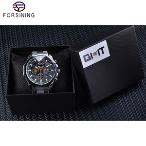 Image 5 - Forsining 2019 Classic Black Clock Steampunk Series Complete Calendar Mens Sport Mechanical Automatic Watches Top Brand Luxury