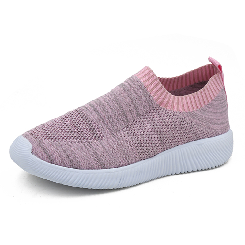 Plus Size 43 Mesh Summer Sneakers Women Casual Flat Light Breathable Black Red Pink Slip On Sock Shoes Woman 2019 tenis feminino in Women 39 s Vulcanize Shoes from Shoes