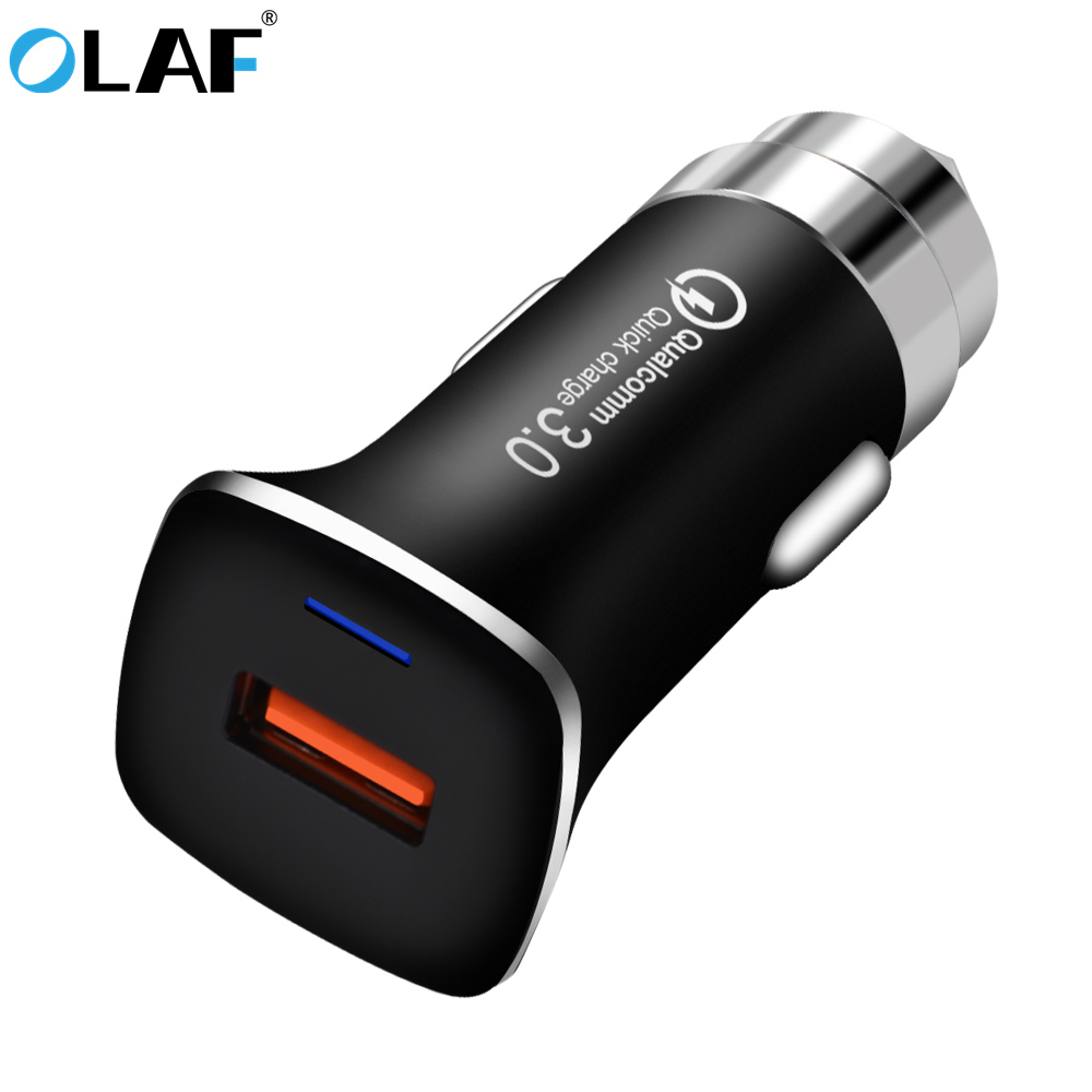 OLAF Quick Charge 3.0 Car Charger QC 3.0 Car-Charger Fast Charge 15W 3.1A USB Smart Mobi ...
