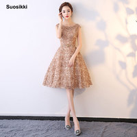 Suosikki Short Evening Dresses 2018 For Party Fashion Scoop Neck Real Photo Prom Dress