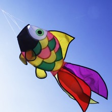 Ny Rainbow Fish Kite Windsock Udendørs Have Dekor Festival Kids Legetøj Flying Nylon Kite Gratis forsendelse